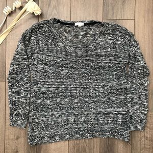 Garage Grey & Whit Knit Sweater Size XS